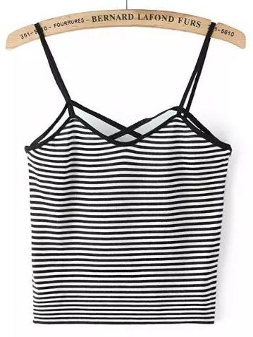 Shop Contrast Striped Cami Top online. SheIn offers Contrast Striped Cami Top & more to fit your fashionable needs.