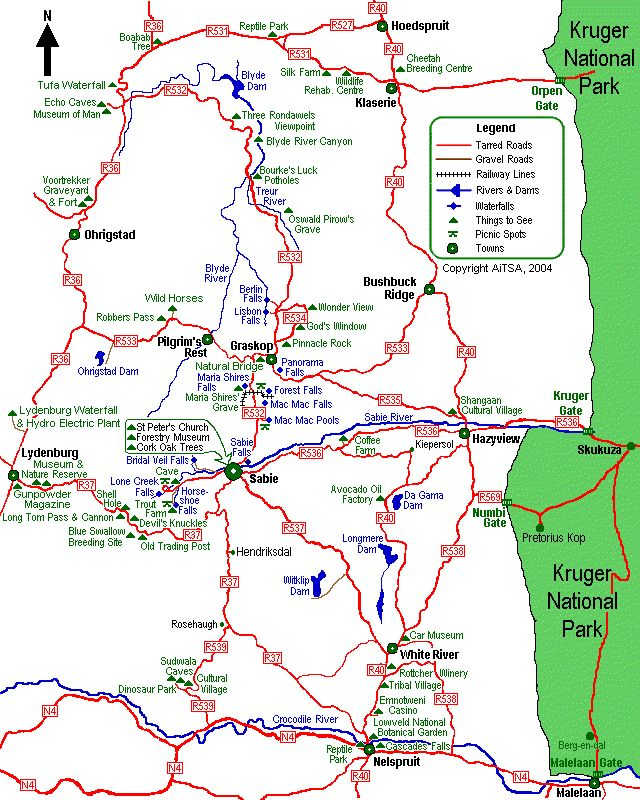 graskop, s. africa regional map