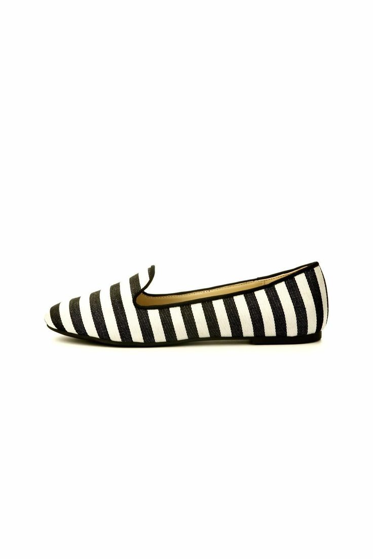 This black and white striped canvas shoe is nice to the touch. Stripe can be used very casual by accessorizing with all black. Recommended to go up half a size.   Stripe Ballet Shoe by Cape Robbin. Shoes - Flats - Ballet Baltimore, Maryland