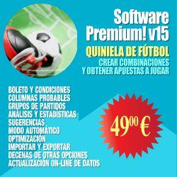 #Software #Quiniela #1X2 Combinaciones con decenas de condiciones, análisis, estadísticas, optimización, etc. http://www.losmillones.com/software/quiniela.html