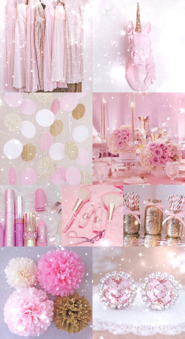 pink, gold, wallpaper, background, hd, iPhone, glitter, sparkle, sparkly, pretty, girly, makeup, lipstick