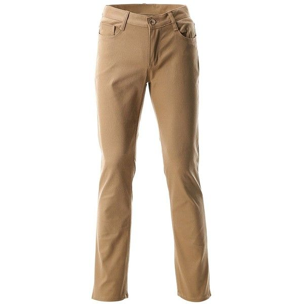 FLATSEVEN Mens Slim Fit Chino Pants Trouser Premium Cotton ($20) ❤ liked on Polyvore featuring men's fashion, men's clothing, men's pants, men's casual pants, mens pants, mens chino pants, mens slim fit pants, mens cotton pants and mens chinos pants