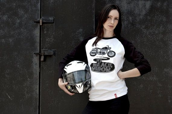 My Black Widow Tee-Unisex motorcycle Tee-Men's by 71Bandits