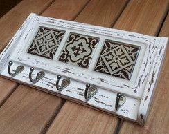 Porta Chaves + Cartas mini azulejo