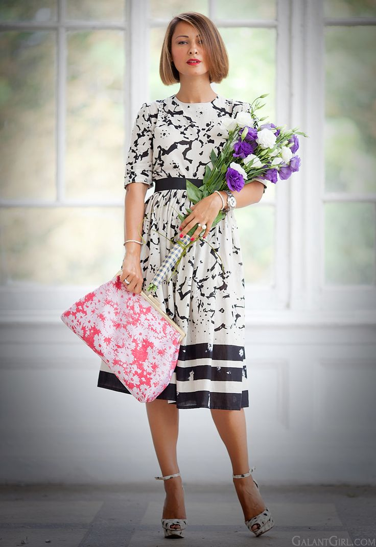 Stella McCartney Lucia clutch flower print dress by GalantGirl.com