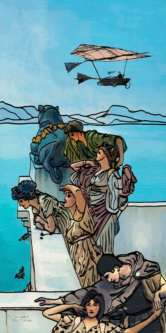 """Every woman has her story ... A very """"wrong"""" persiflage on the classic themes of Alma Tadema"""
