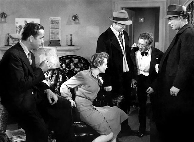 Promotional still from the 1941 film The Maltese Falcon
