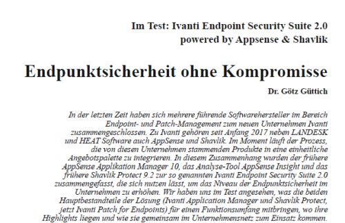 Im Test: Ivanti Endpoint Security Suite 2.0 powered by Appsense und Shavlik