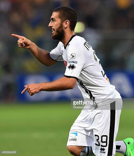 Guido Marilungo of Cesena celebrates after scoring the opening goal during the Serie B playoff match between Modena FC and AC Cesena at Alberto...