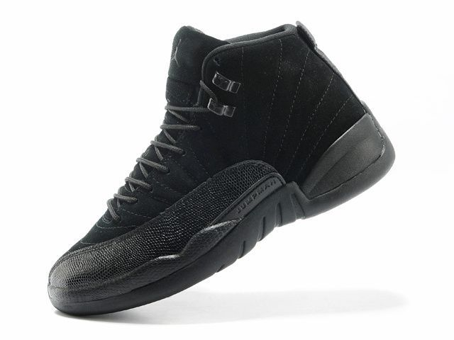 "The Air Jordan 12 Black ""OVO"" PE edition that features a Black nubuck upper with a shimmering stingray side panel finished with a translucent outsole that has a tint of Gold. The ""OVO"" Owl logo is also found on the insole completely this PE."