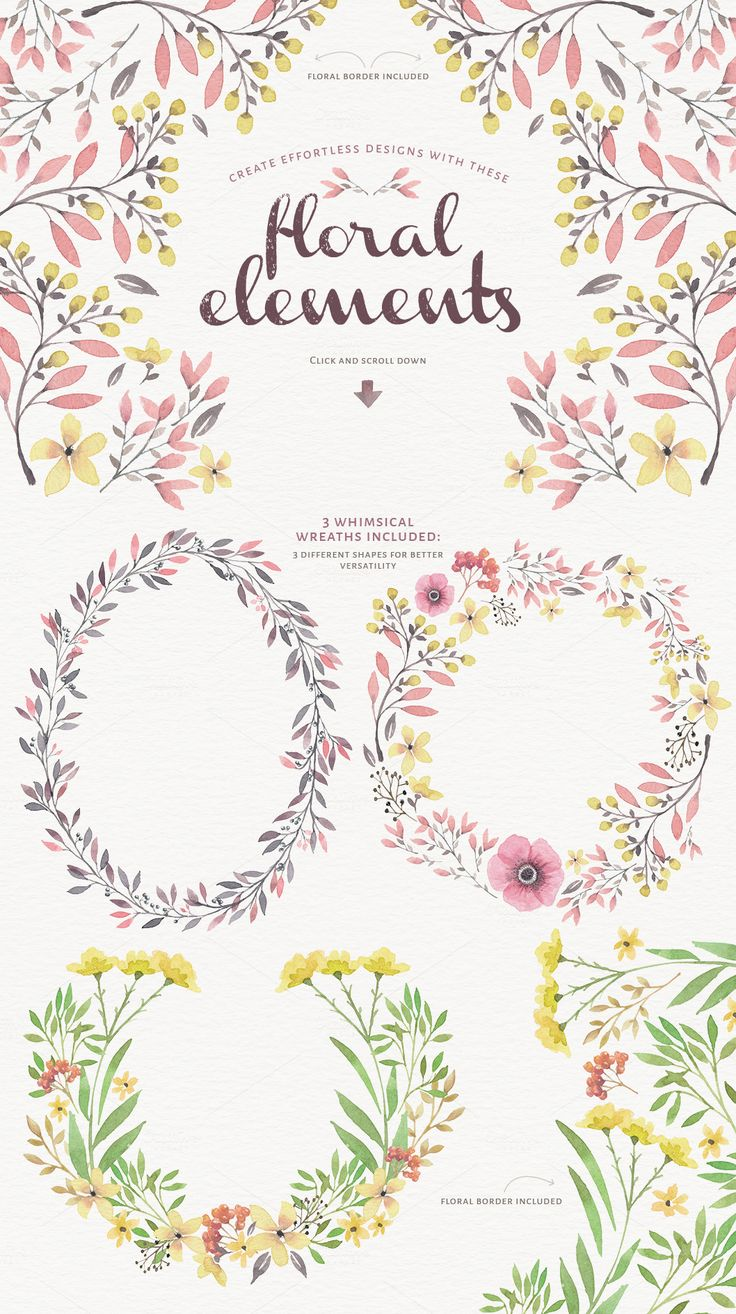Magical Watercolor graphics Volume 1 by Lisa Glanz on Creative Market