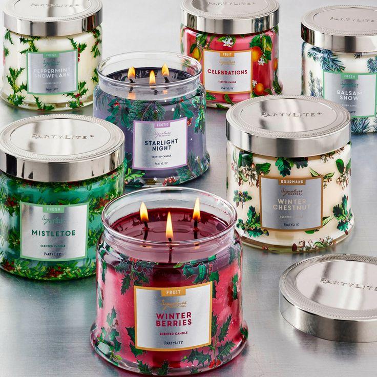 PartyLite Signature 3-Wick Jar Seasonal Fragrances