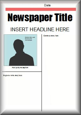 This Microsoft Word newspaper template could be used for your students to complete a newspaper book report project.
