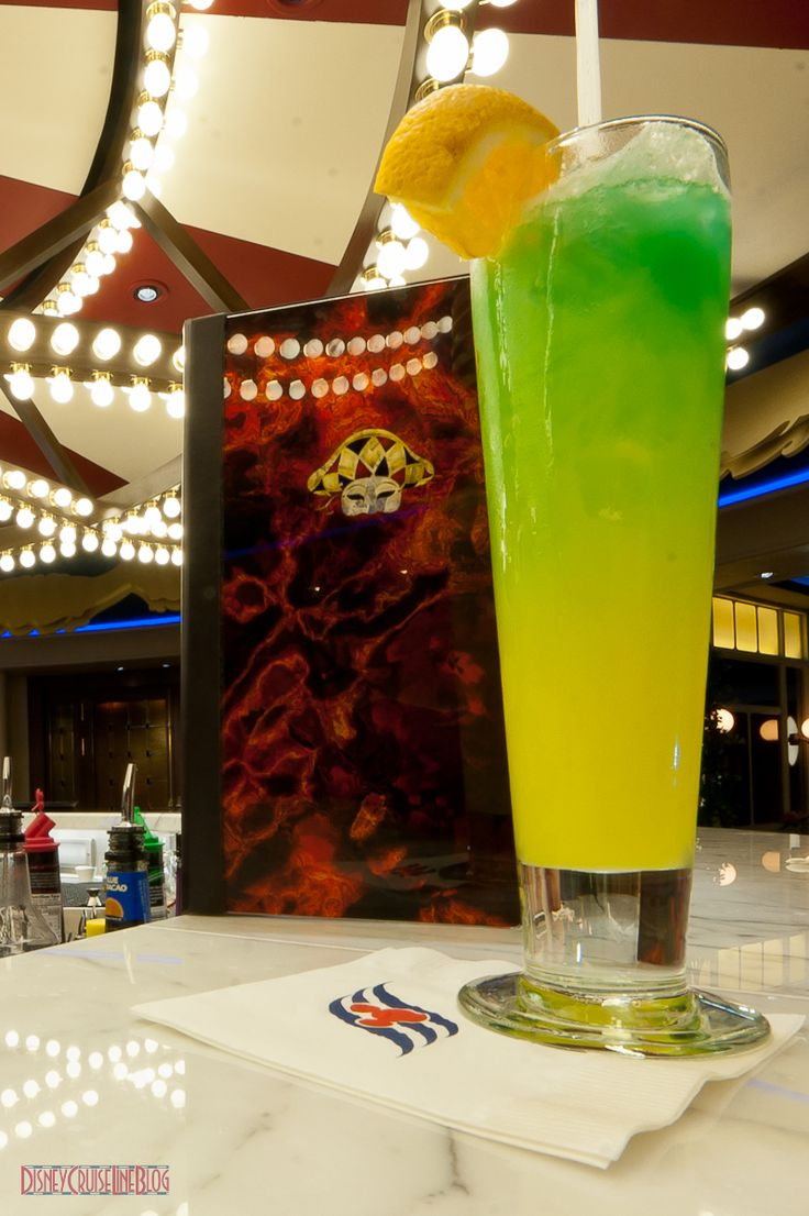 A Guide to Drinking on a Disney Cruise...they even list the non-alcholic drinks.