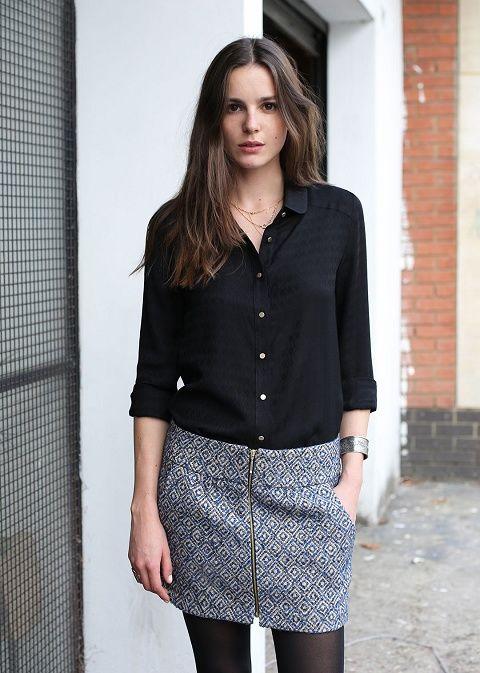 Sézane /  Julia skirt - J'imagine bien la SISTER de Vanessa Pouzet avec la petite chemise ELSA de LMV...
