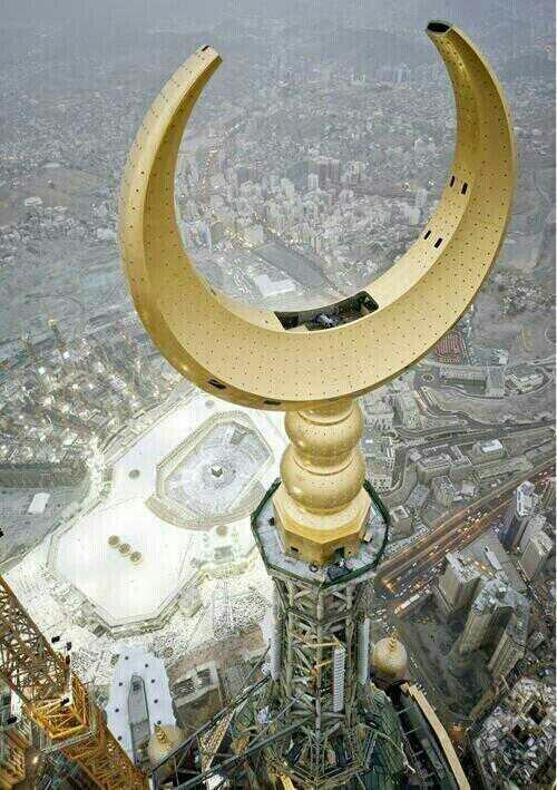 Highest peak of Kaaba's mosque minaret.