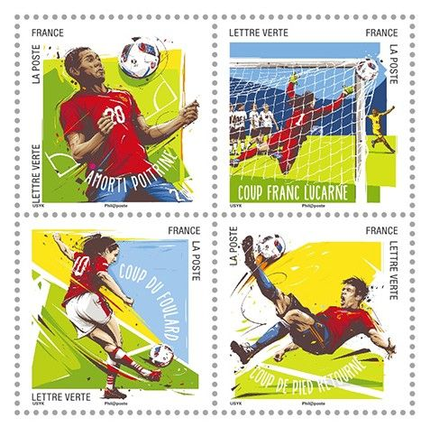 EURO 2016 Stamps FRANCE – Football Gestures 2