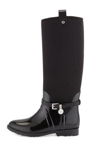 Timeless Michael Kors Black Stretch Rain Boot http://rstyle.me/~34skA