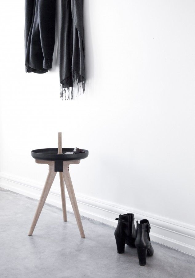#Bathroom #accesories design by Norm.  Material: #Ash, #Plastic, #Steel.