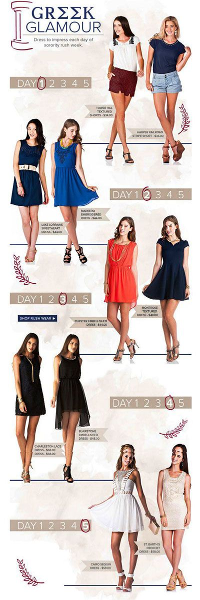 Pledge-Worthy Pieces for Sorority Rush Week at Francesca's Collections