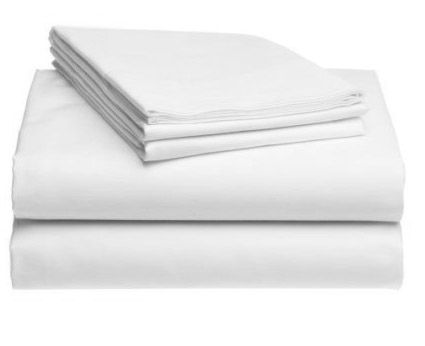 King Sheet Set (one flat sheet, one fitted sheet, two pillow cases). Also available in Queen, Twin, and Full/Double.