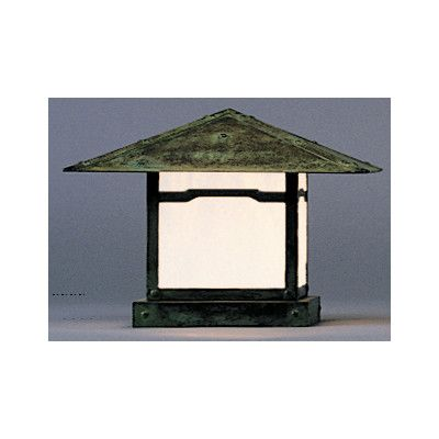 Arroyo Craftsman Monterey 1 Light Outdoor Post Lantern with Overlay | Wayfair