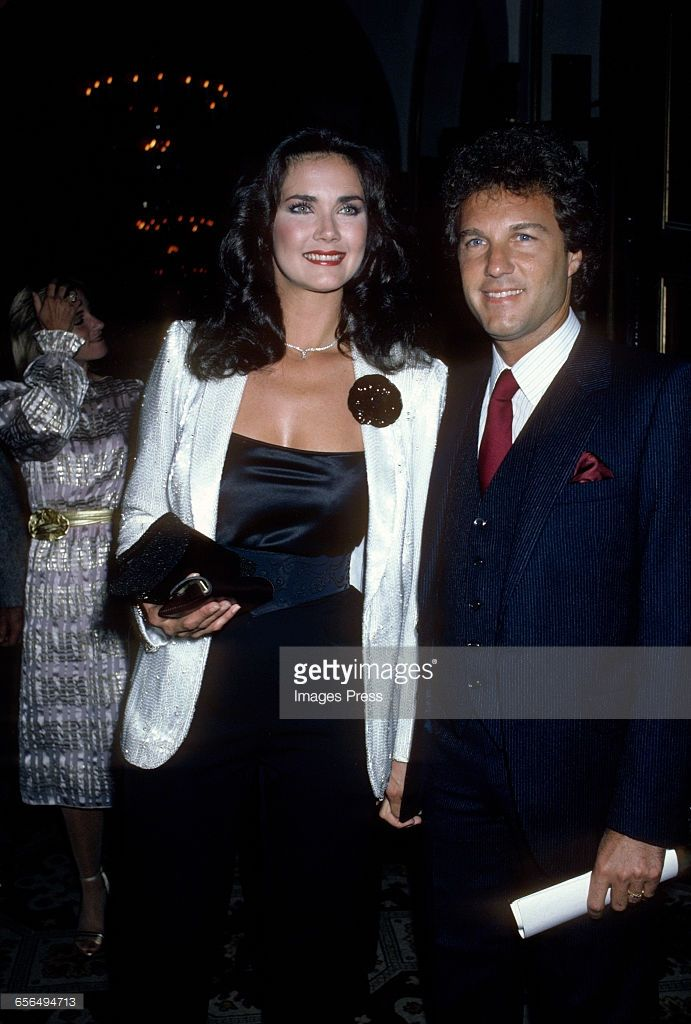 Lynda Carter and husband Ron Samuels circa 1981 in New York City.