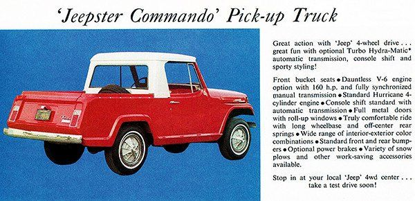 1967 Jeep Jeepster Commando Pick-Up Truck - Promotional Advertising Poster
