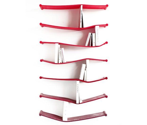 «Гибкий» дизайн резиновой книжной полки