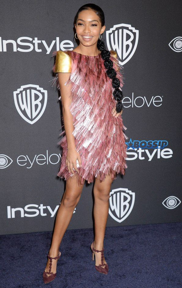 NO JUST JARED USAGE Warner Bros. Pictures and InStyle Host 18th Annual Post-Golden Globes Party. Pictured: Yara Shahidi Ref: SPL1419235 080117 Picture by: Splash News Splash News and Pictures Los Angeles:310-821-2666 New York:212-619-2666 London:870-934-2666 photodesk@splashnews.com