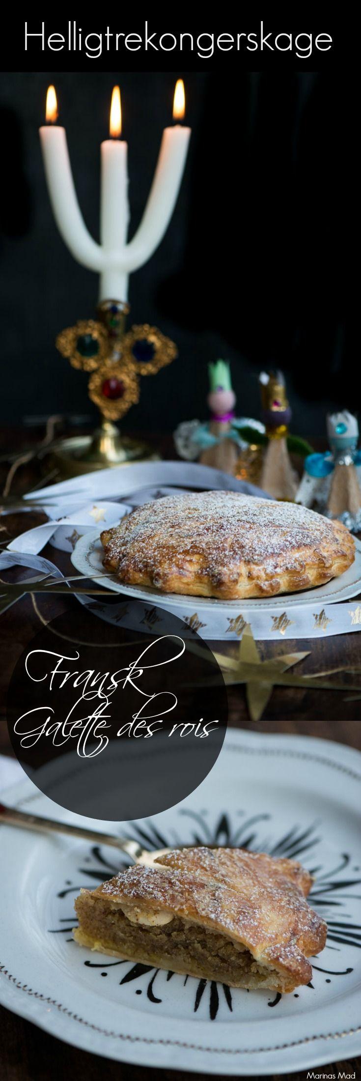 Den franske tradition med at spise helligtrekongerskage stammer helt tilbage til 1500 tallet. I kagen er der indbagt en bønne, mandel eller lille figur og den der er heldig at få netop det stykke kage bliver konge for en aften. Få opskriften på helligtrekongerskagen og læs mere om traditionen på Marinas Mad.