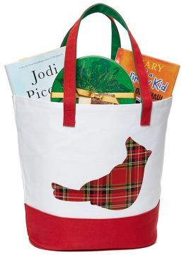 Red Cardinal Holiday Traditions Canvas Tote 18