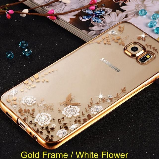 Flower Diamond Case For Samsung Galaxy A3 A5 A7 2015 2016 J5 J7 J3 2015 2016 S5 S6 S7 Edge Plus G531h G361h In 2021 Samsung Samsung Galaxy Samsung Galaxy S7 Edge Cases