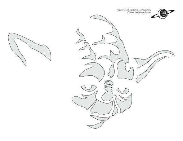 Star wars pumpkin stencils carving pattern outline free printable ...