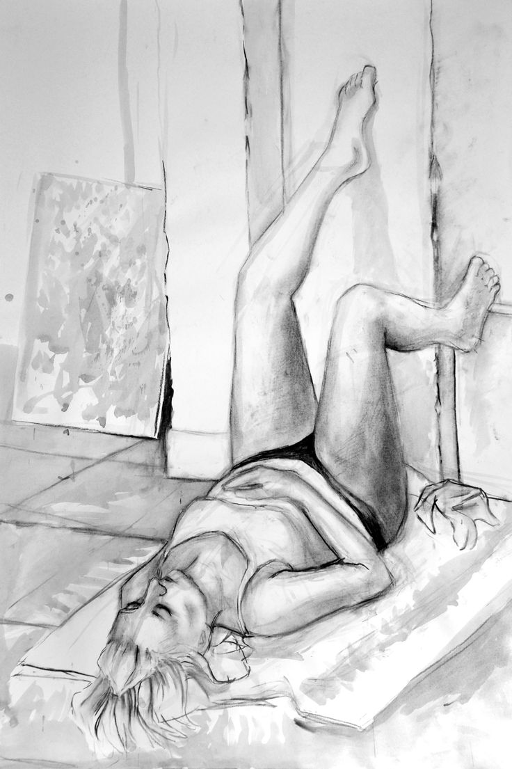 charcoal drawing, 100 x 70