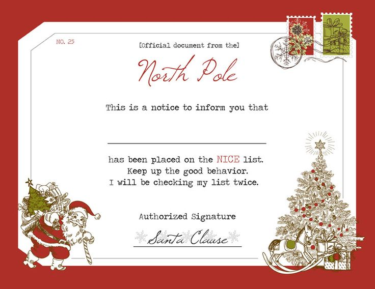 Best 25+ Santau0027s nice list ideas on Pinterest Nice list, Santa - free printable christmas gift certificate