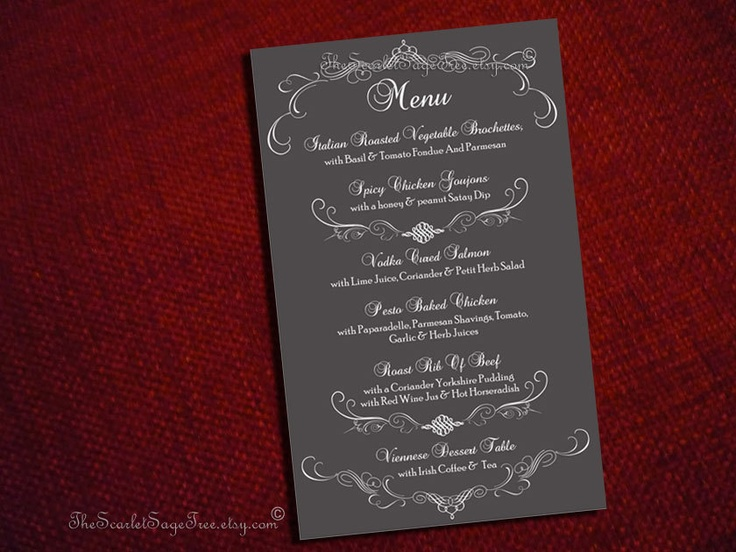 17 best images about menu designs on pinterest printable for Table menu restaurant
