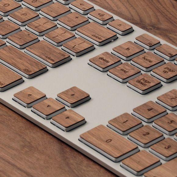 Деревянные наклейки на клавиатуру от Lazerwood