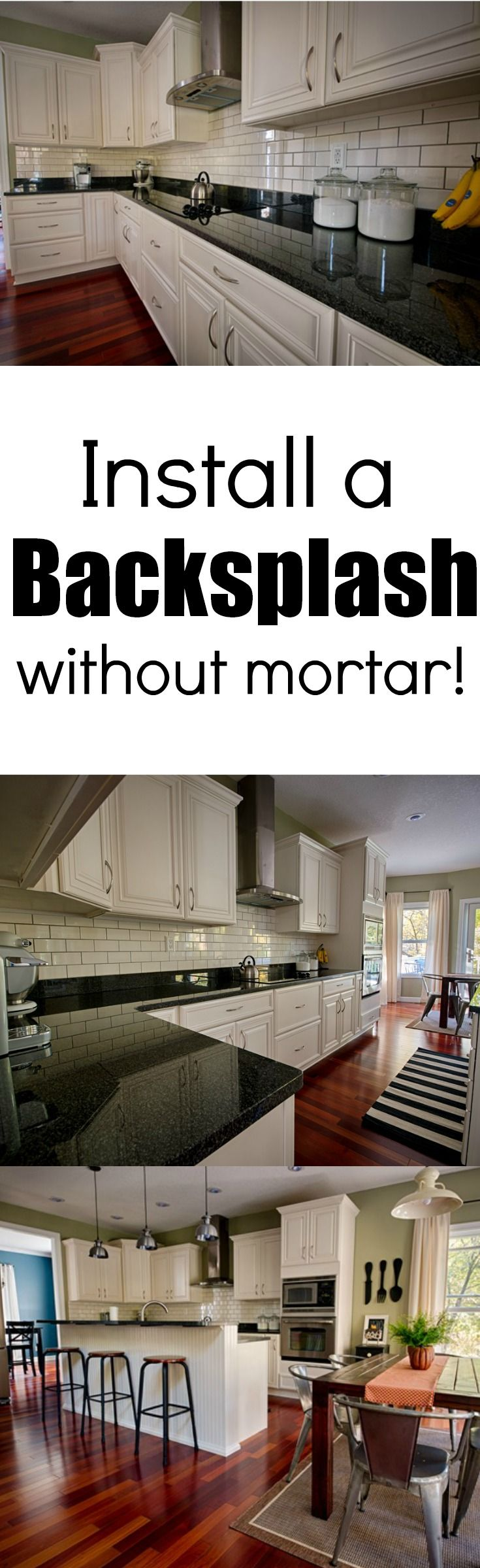 Install a backsplash without mortar!