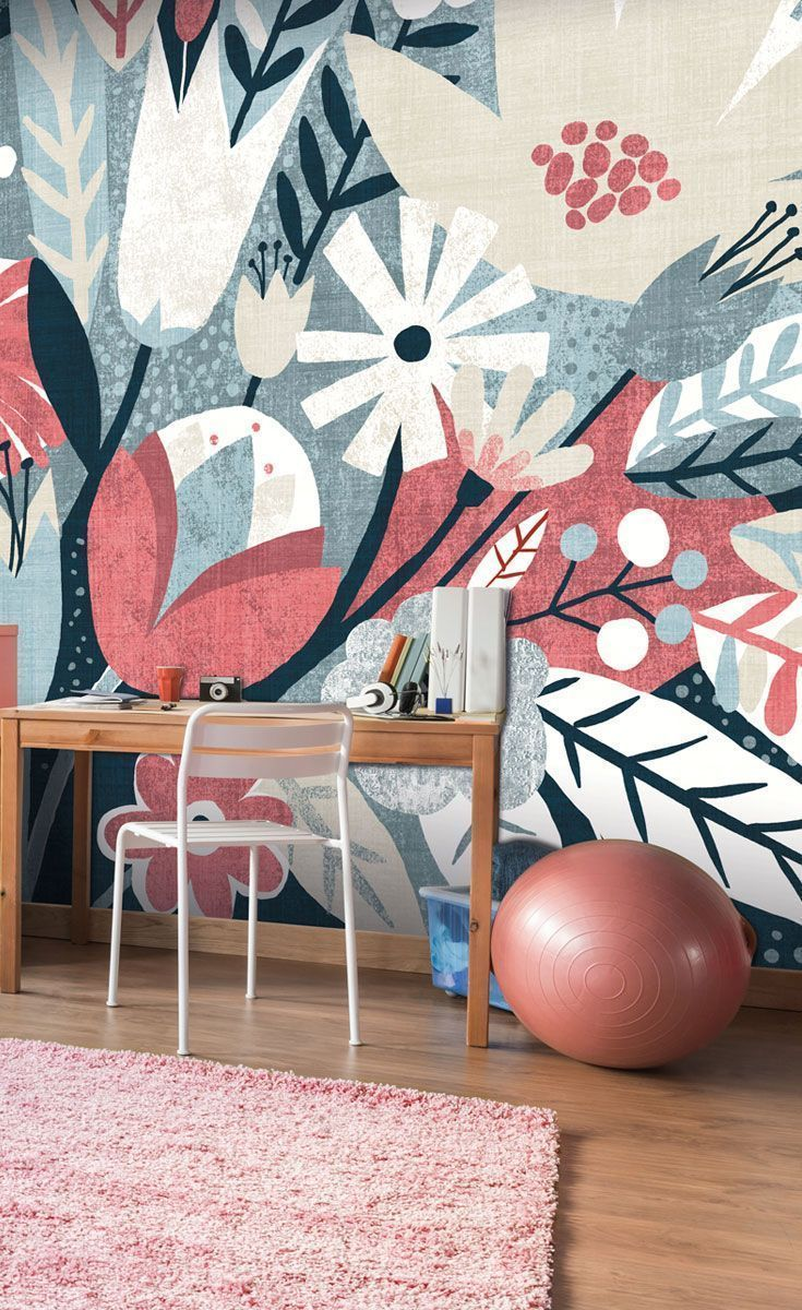 Vintage Bouquet Pink Wall Mural Wallsauce Us Pink Walls Stunning Wallpapers Decor