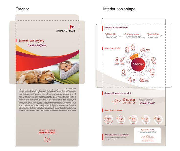 Diseño de pieza de Marketing directo (tarjeta visa gold) para BANCO SUPERVIELLE