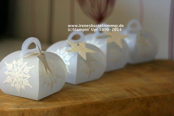 Zierschachtel für Andenken-stampinup-schneeflocke