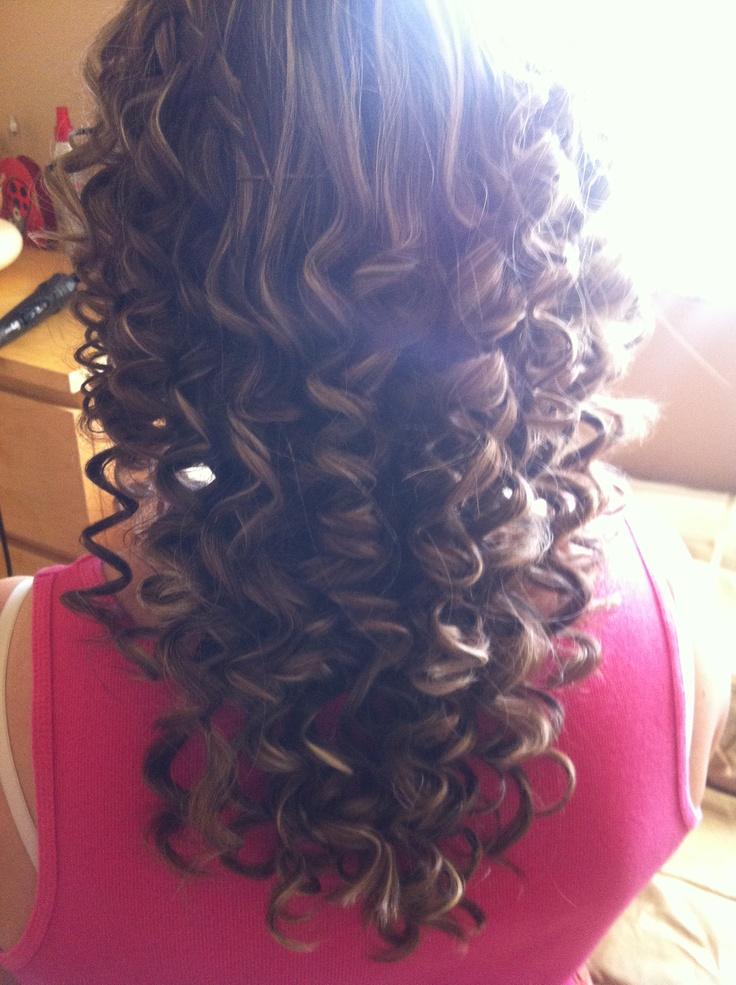 Tight spiral curls