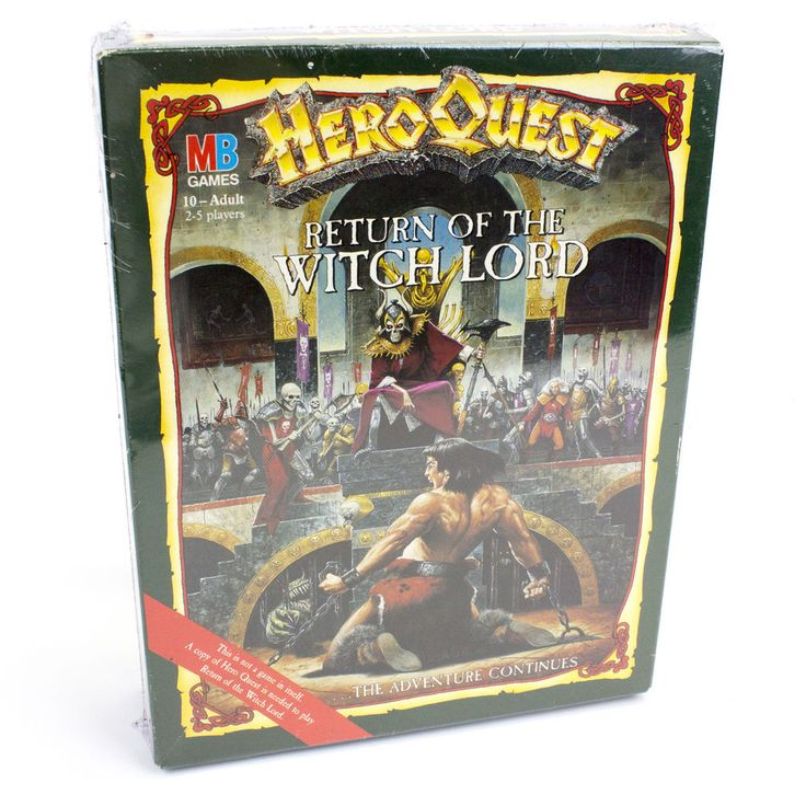 Vintage Heroquest: Return of the Witch Lord by Games Workshop, 1991, Sealed