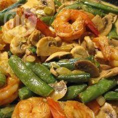 Wok de arroz con camarones al curry @ allrecipes.com.ar