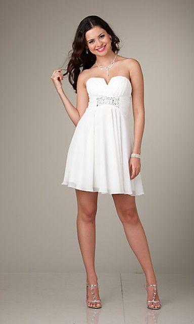 Modelos de vestidos para noche blanca