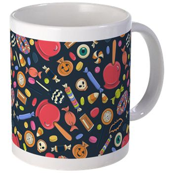 Trick or Treat Mugs from cafepress store: AG Painted Brush T-Shirts. #mug #coffee #Halloween #candy