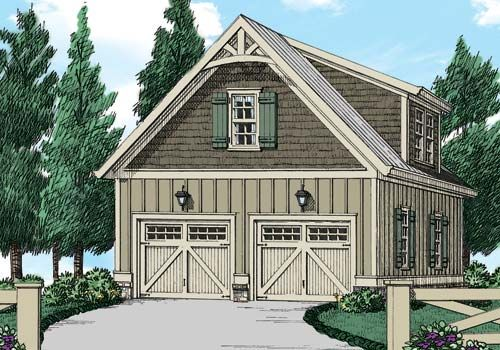 Garage Plan 4084 (2 Car) - Home Plans and House Plans by Frank Betz Associates