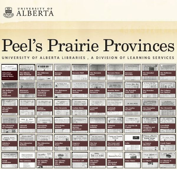 With years ranging from 1871-2013, you may find your Canadian families in these newspapers. Hosted by the University of Alberta.