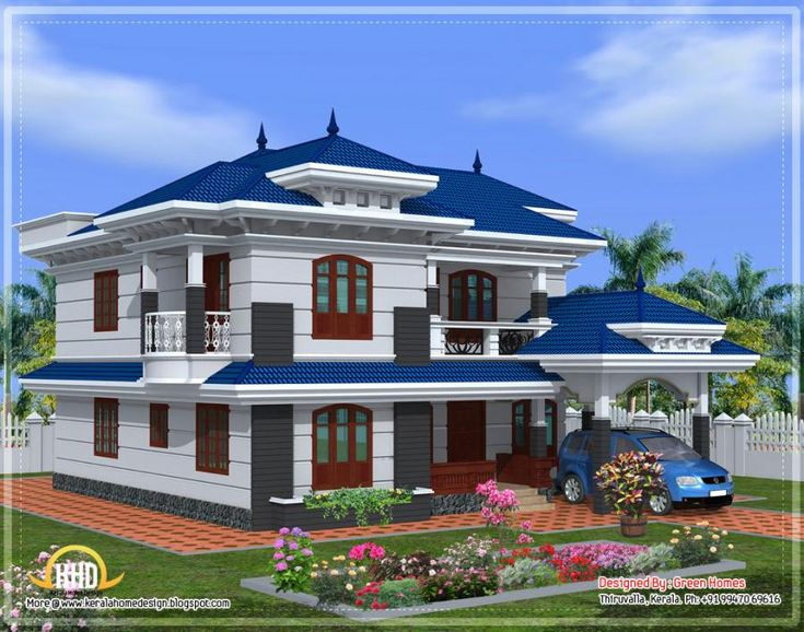 111 best beautiful indian home designs images on pinterest South indian style house plans with photos
